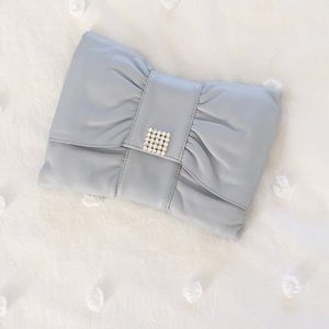 Banana Republic Baby Blue Leather Clutch
